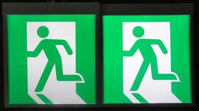 左側が BL型 右側が BH型です 明るさの違いが明らかです。